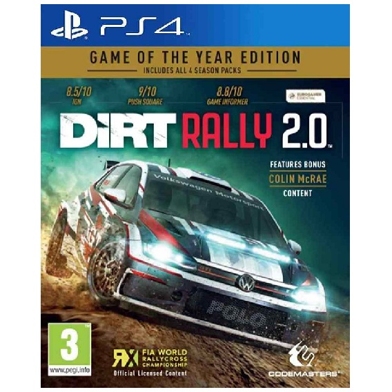 DIRT Rally 2.0 - Game of the year edition PS4 GAME