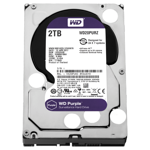 Hard Disk WD 2TB Purple Surveillance